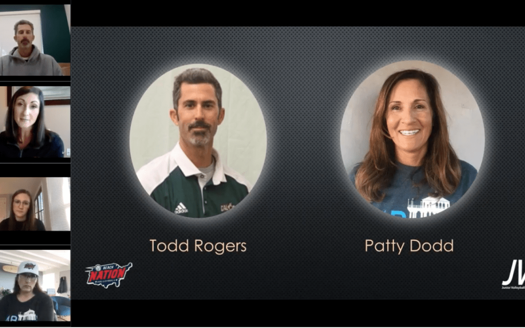 """MBsand Coach Patty Dodd and Cal Poly Coach Todd Rogers present """"Winning the Side out Battle"""""""
