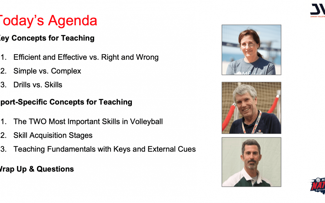 JVA Webinar: Teach the skills not the drills